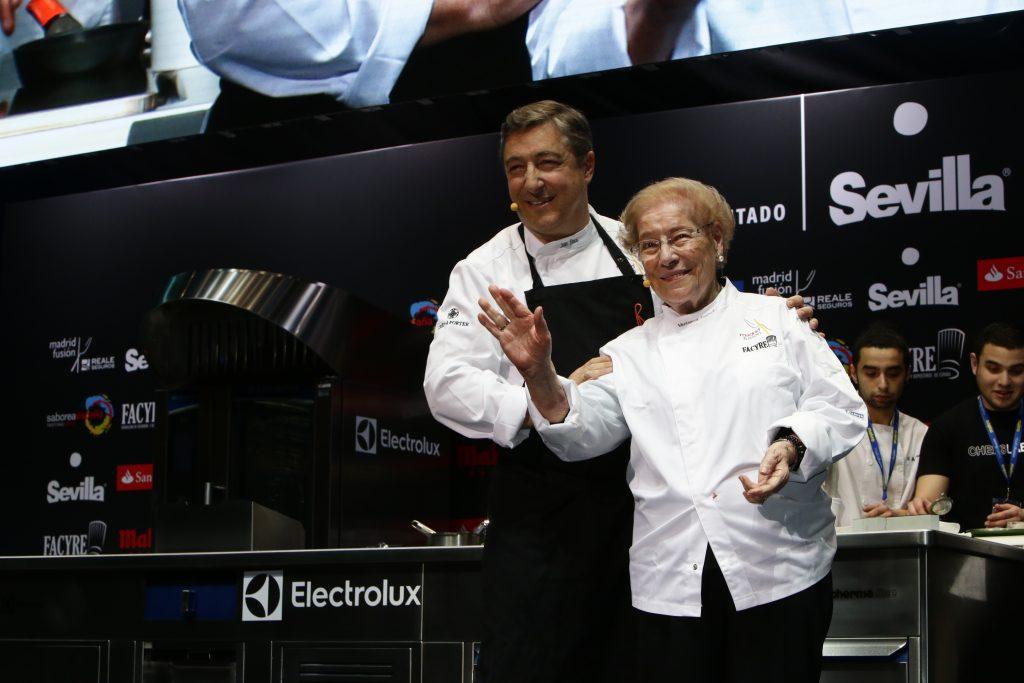 Joan Roca y su madre